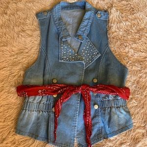 Tops - Denim Jean Vest Size Small